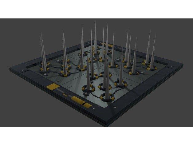 fortnite working spike wall 3d model - fortnite free 3ds