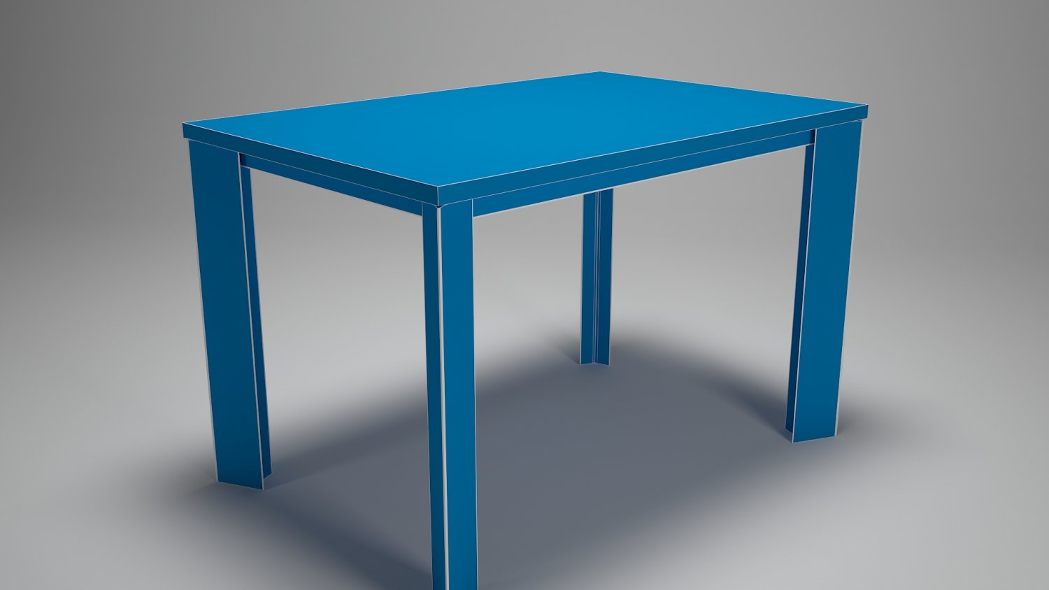 TABLE FOR KITCHEN-DINING ROOM - STEEL-WOOD MATERALS 3D Model in ...