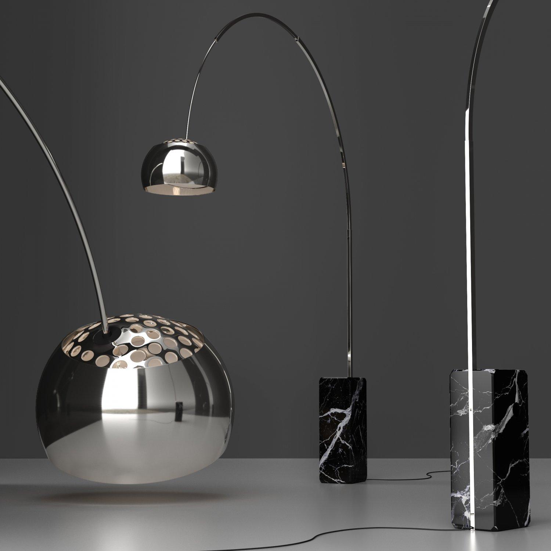 Floor Lamp Flos Arco BLACK 3D Model in Floor Lamps 3DExport