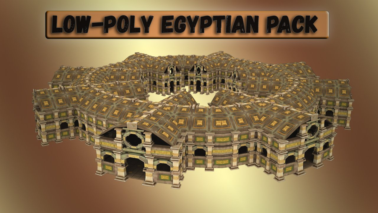 Low-Poly - Egyptian Pack 3D Model in Buildings 3DExport