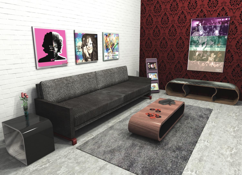 Set modern design furniture 3d model in set 3dexport