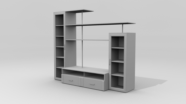 Cupboard 3D Model in Shelving 3DExport on kitchen cabinet, hoosier cabinet, chest of drawers,