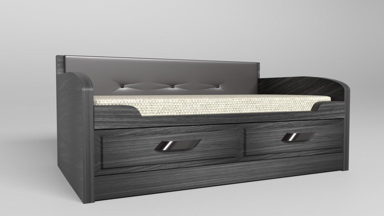 Ergonomic modern bed 3d model in bedroom 3dexport
