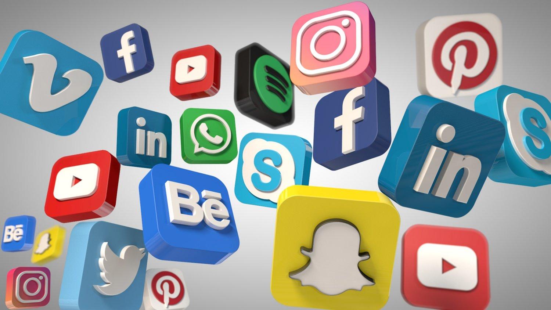 social media icons 3d model in other 3dexport