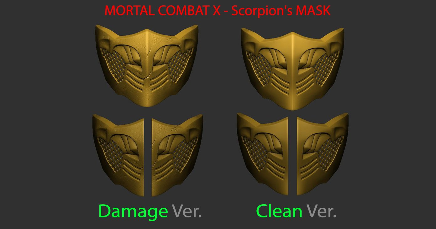 Mortal Kombat X Scorpion Mask For Cosplay 3d Print Model 3d