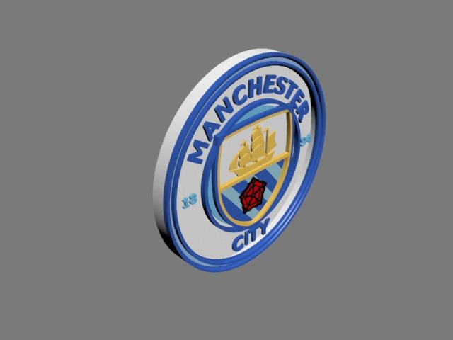 Manchester City Fc 3d Logo Or Badge 3d Model In Signs And Logos 3dexport
