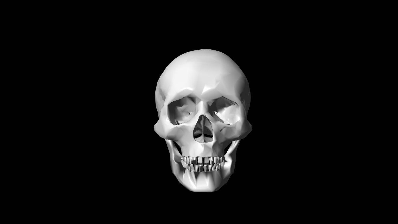 Lowpoly skull Gratis Modelo 3D in Anatomía 3DExport