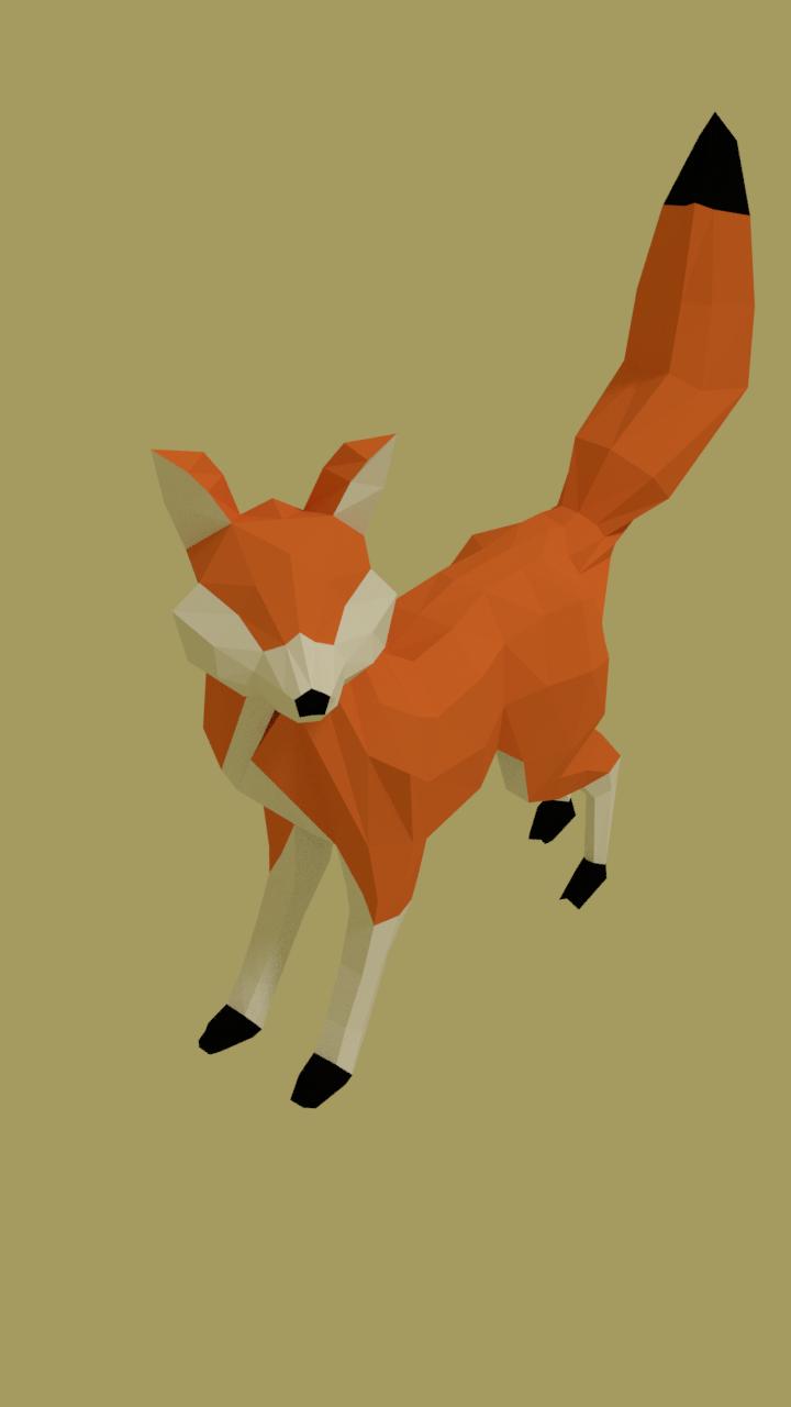 Low poly fox Free 3D Model in Wildlife 3DExport