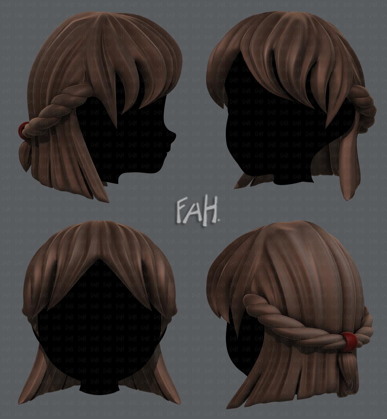 4D Hair style for girl V4 4D-Modell in Andere 4DExport