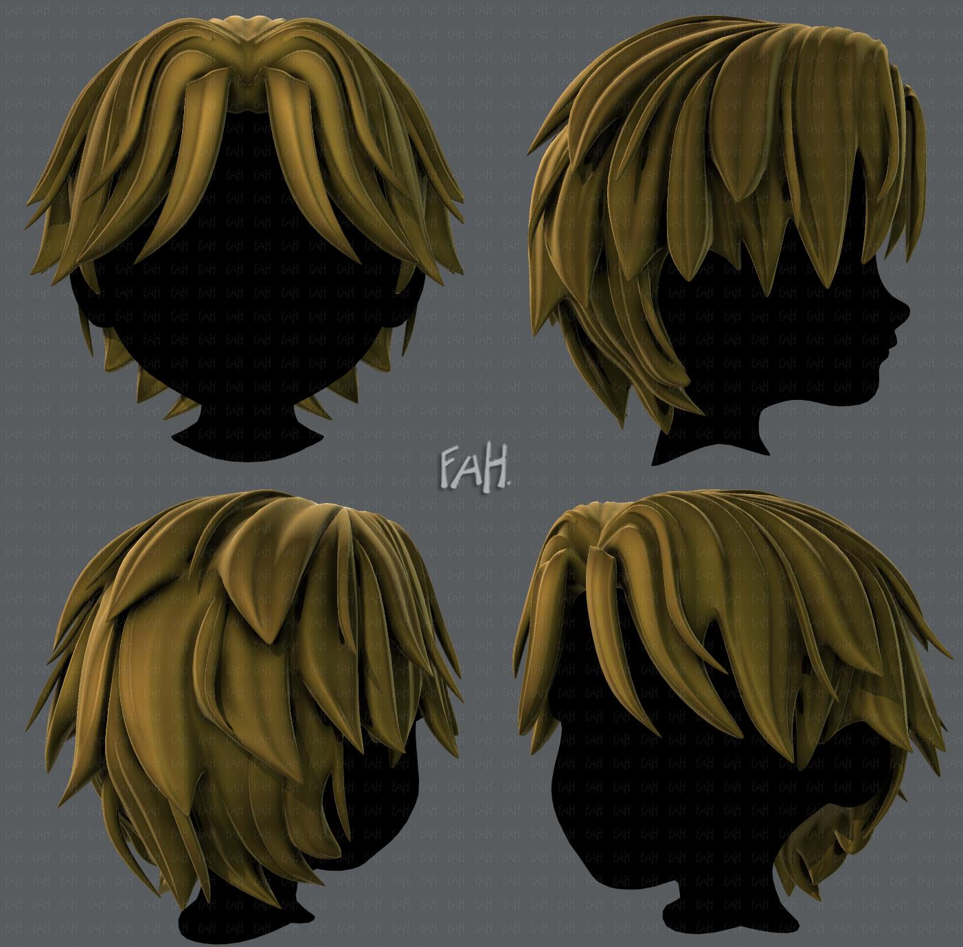 4D Hair style for boy V44 4D Model in Clothing 4DExport