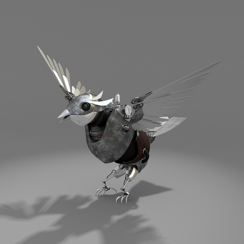 Mechanic bird 3D Model in Bird 3DExport