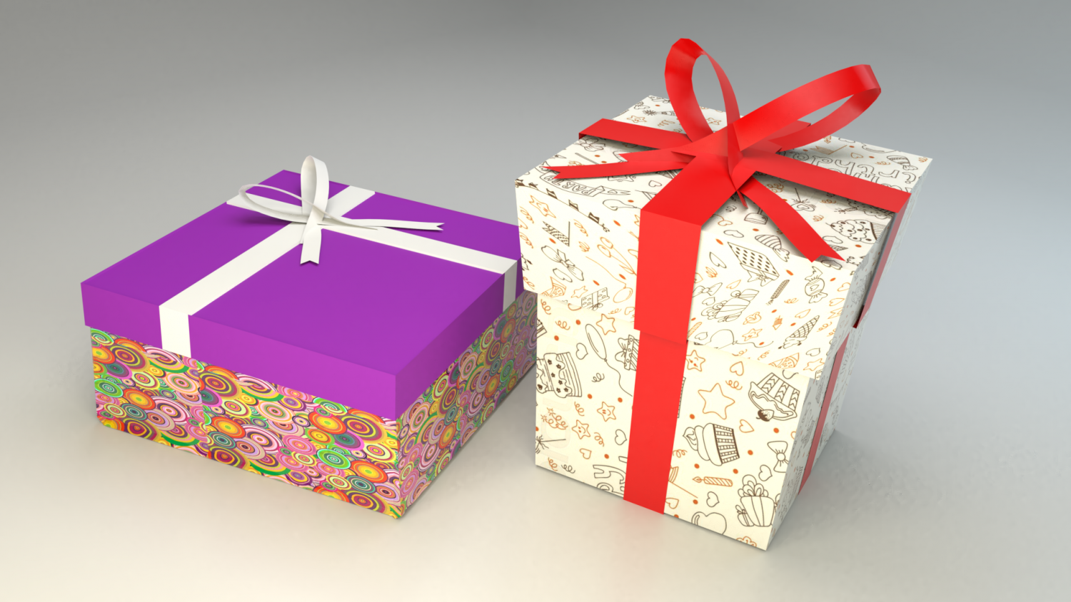 836c0d96e740 Low poly gift boxes of both cubical and rectangular cuboid form for party  decorations Gratis Modello 3D in Altro 3DExport