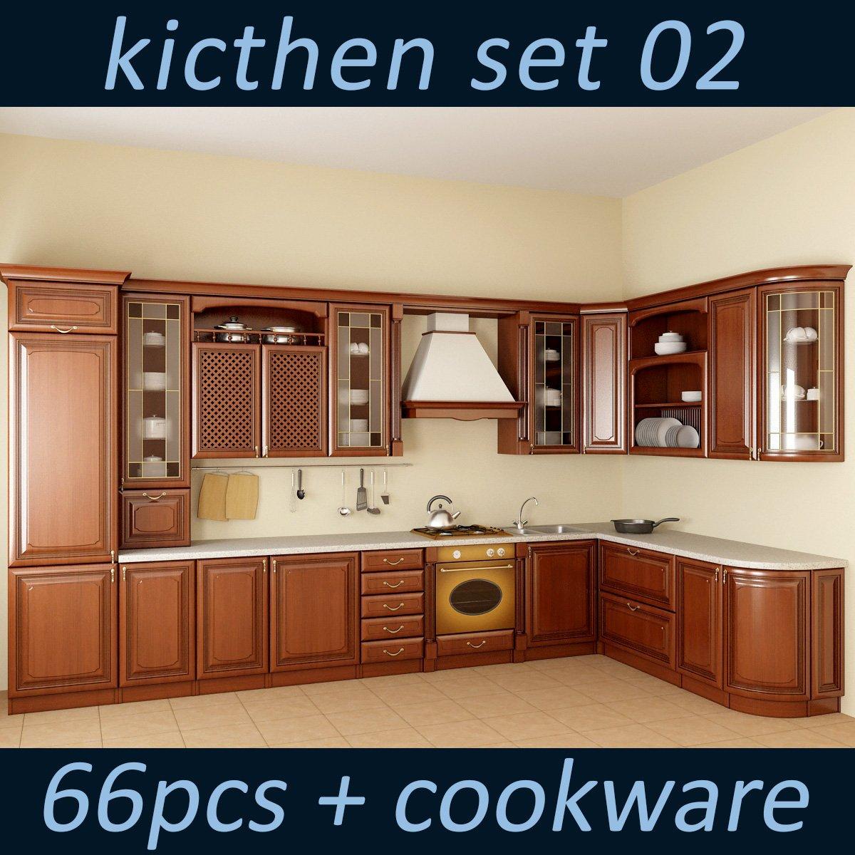 Kitchen Set 02 3d Model In Kitchen 3dexport