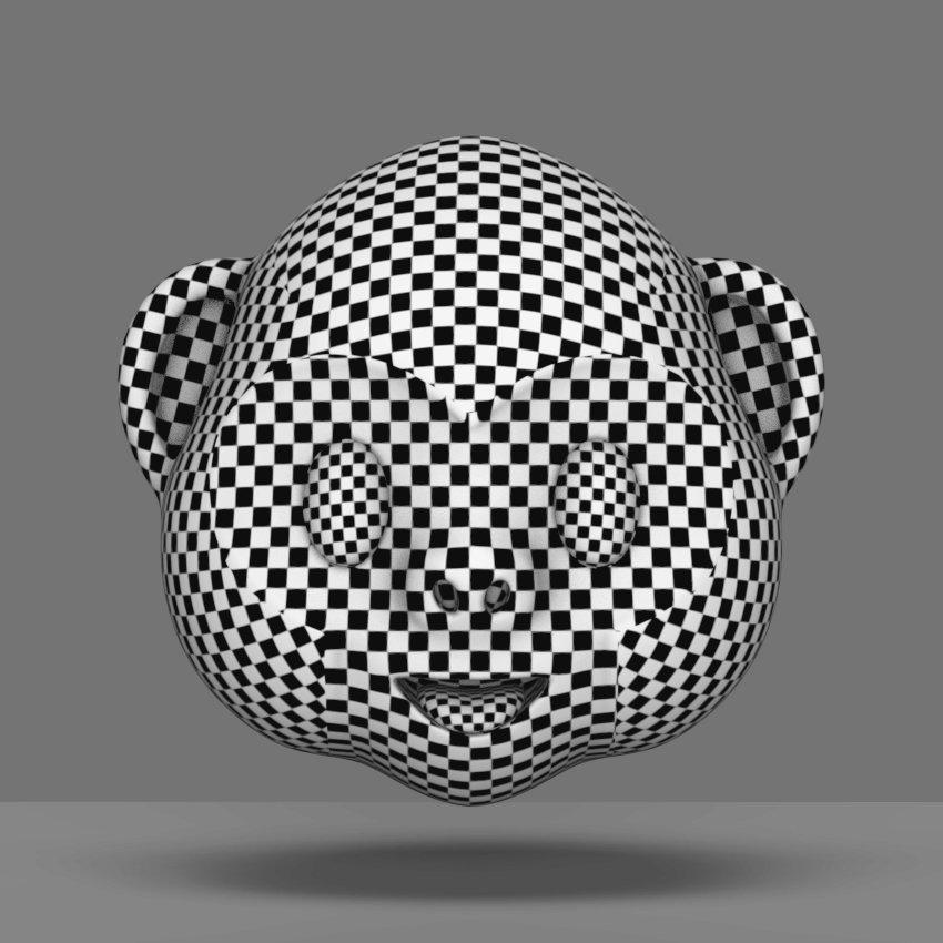 Monkey Face - Emoji 3D Model in Other 3DExport