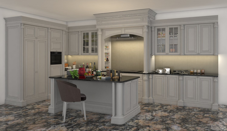 Classic Kitchen Cabinet 2 3d Model In Kitchen 3dexport