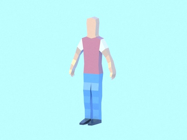 Very low poly male human character Free 3D Model in Man 3DExport