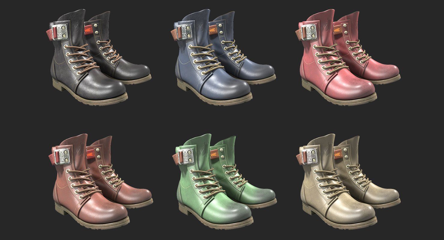 Fly London Stay Rug Biker Boots 3D Model in Clothing 3DExport 721dd175247
