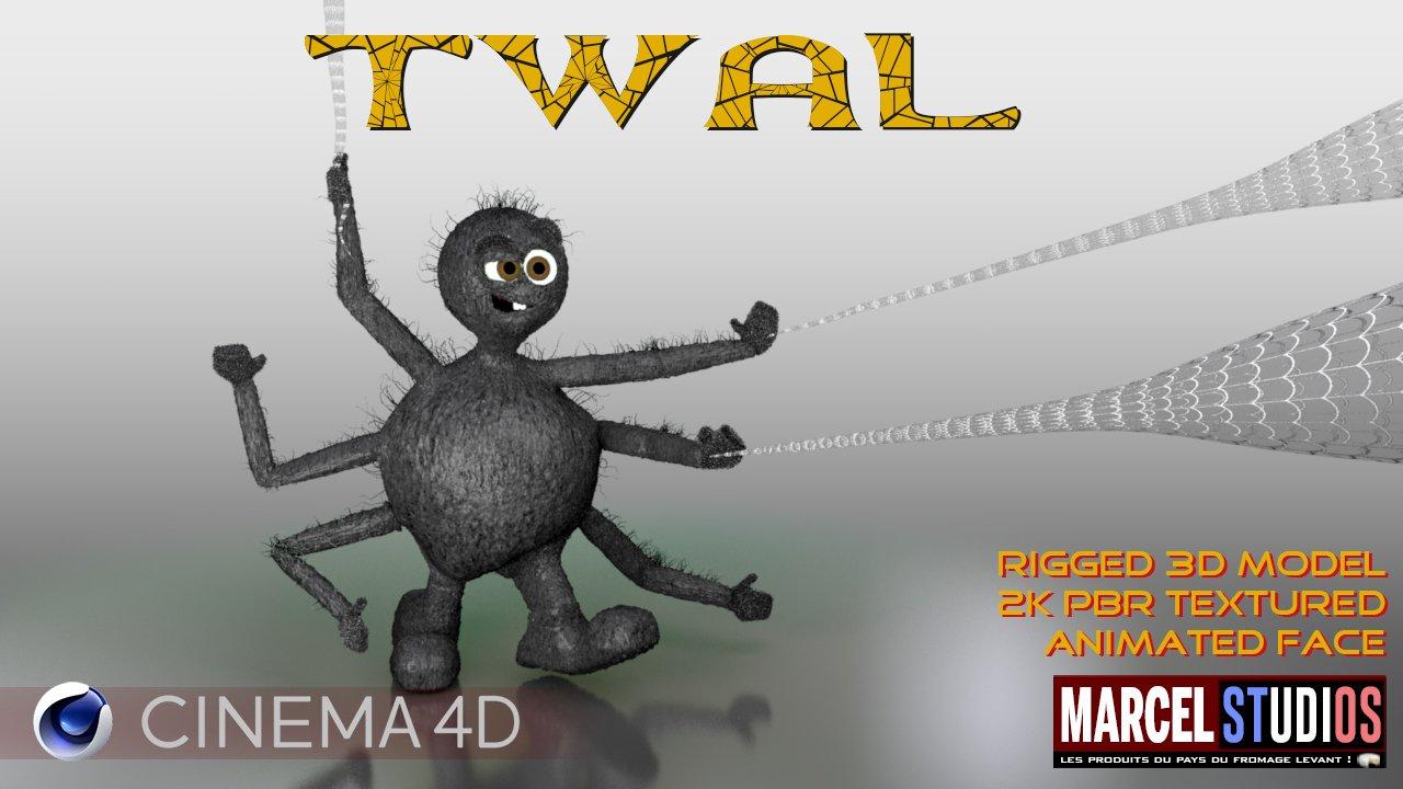 Twal 3D Model in Cartoon 3DExport