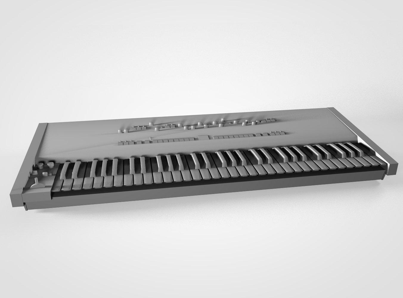 Roland JUNO-106 3D Model in Electronic 3DExport