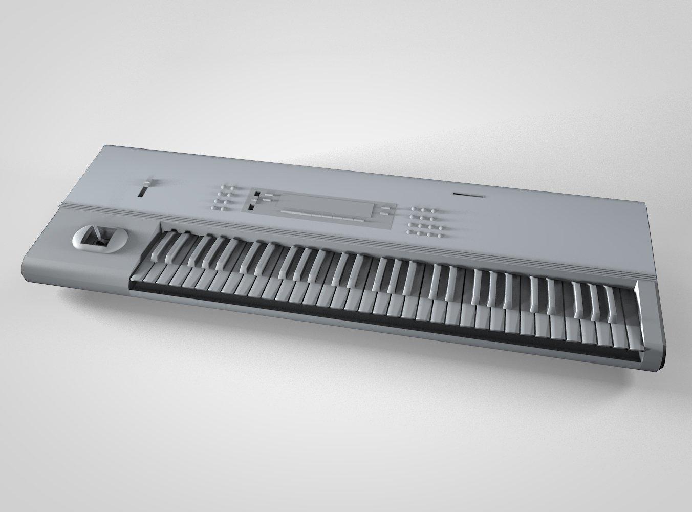 Korg M1 3D Model in Electronic 3DExport