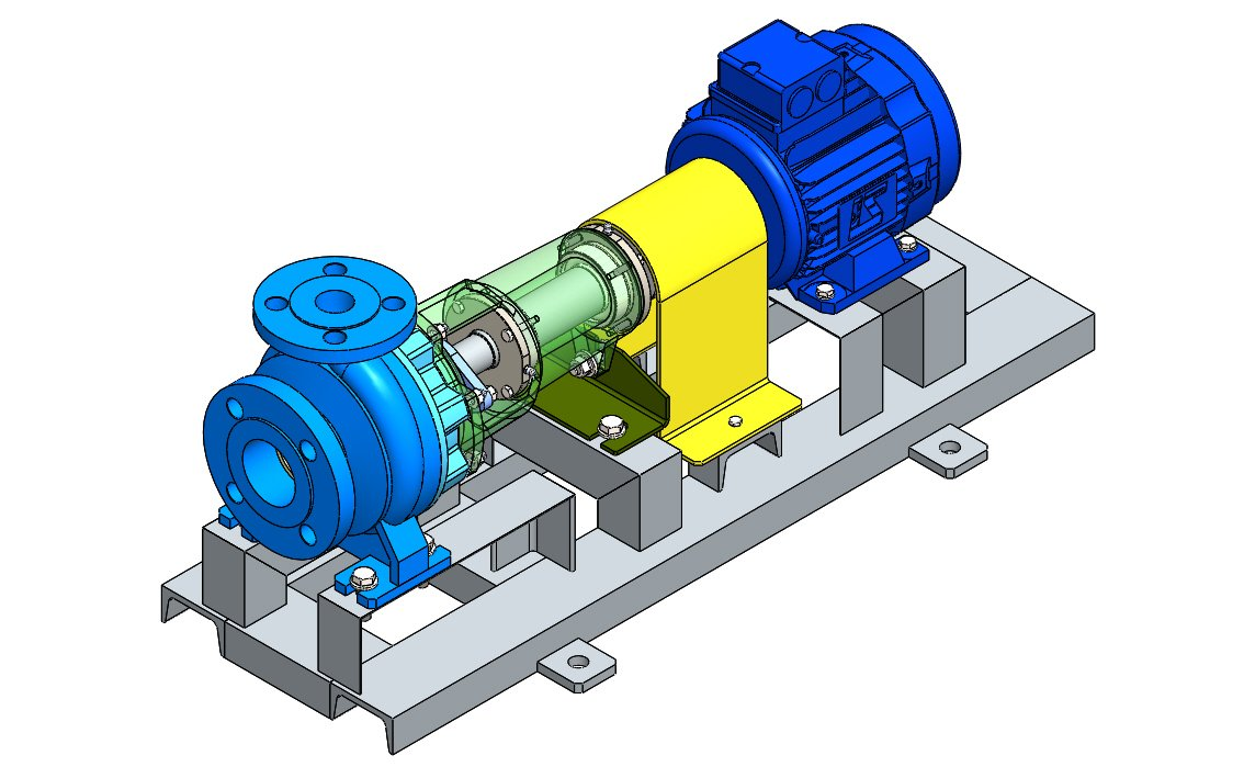 Centrifugal Pump N32 - 125 Solidworks 3D Model in Machines 3DExport