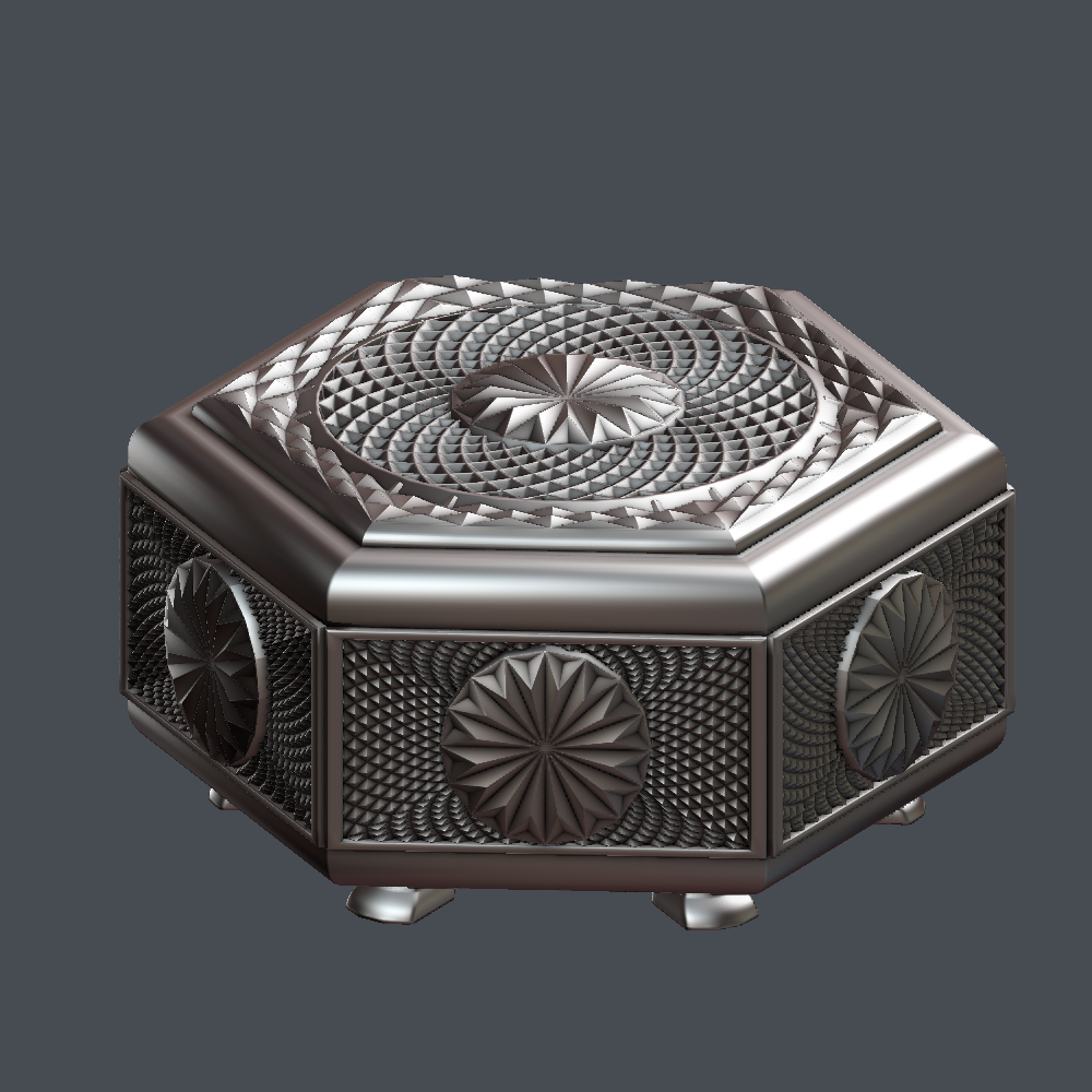 Box 3D Model in Other 3DExport
