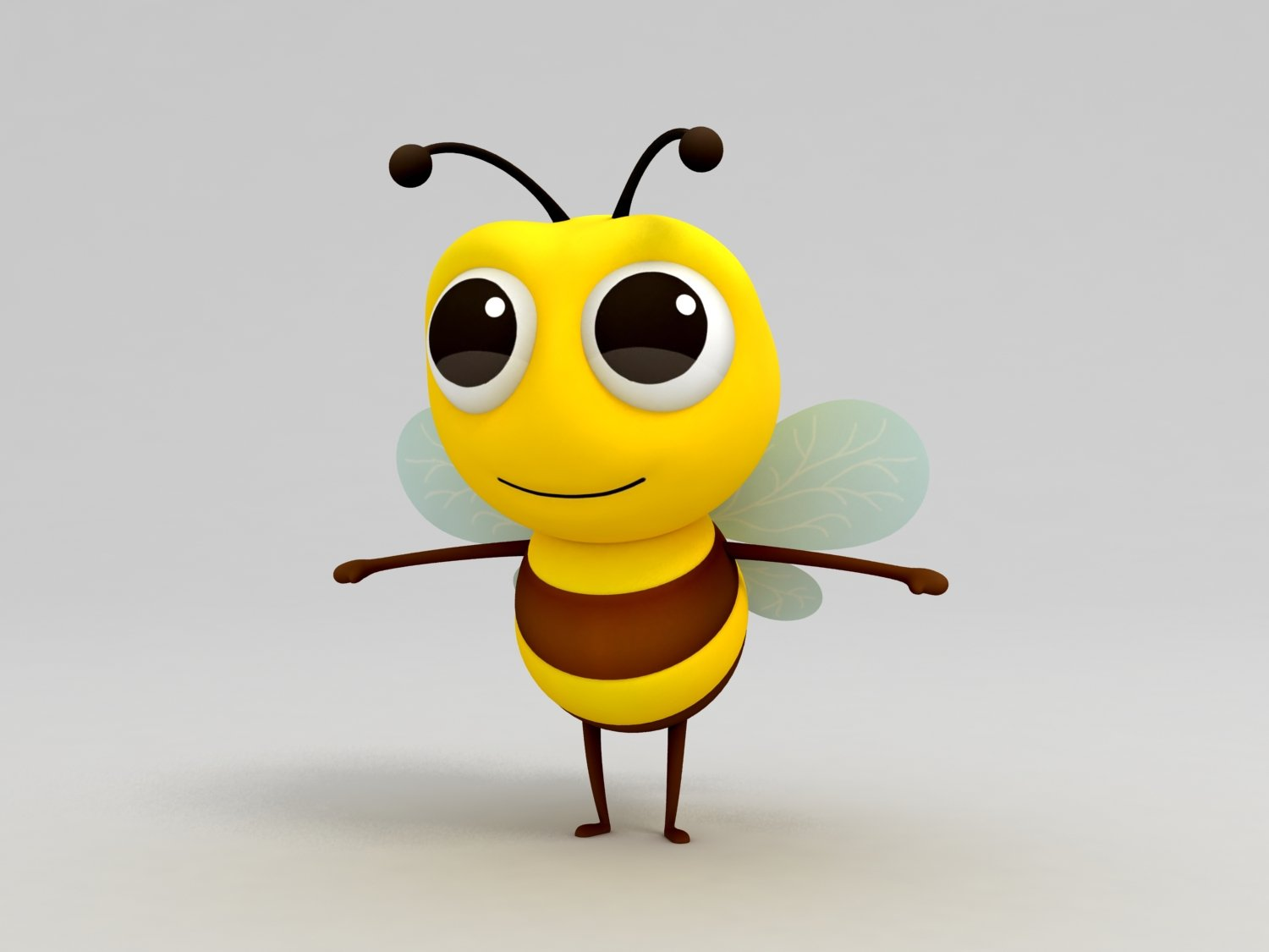 Bee 3D Model in Insects 3DExport