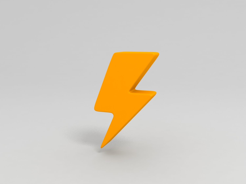 Thunder Symbol 3d Model In Other 3dexport