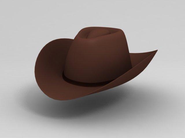 3D Cowboy Hat Modelo 3D in Ropa 3DExport 7c8fb4ad0fd