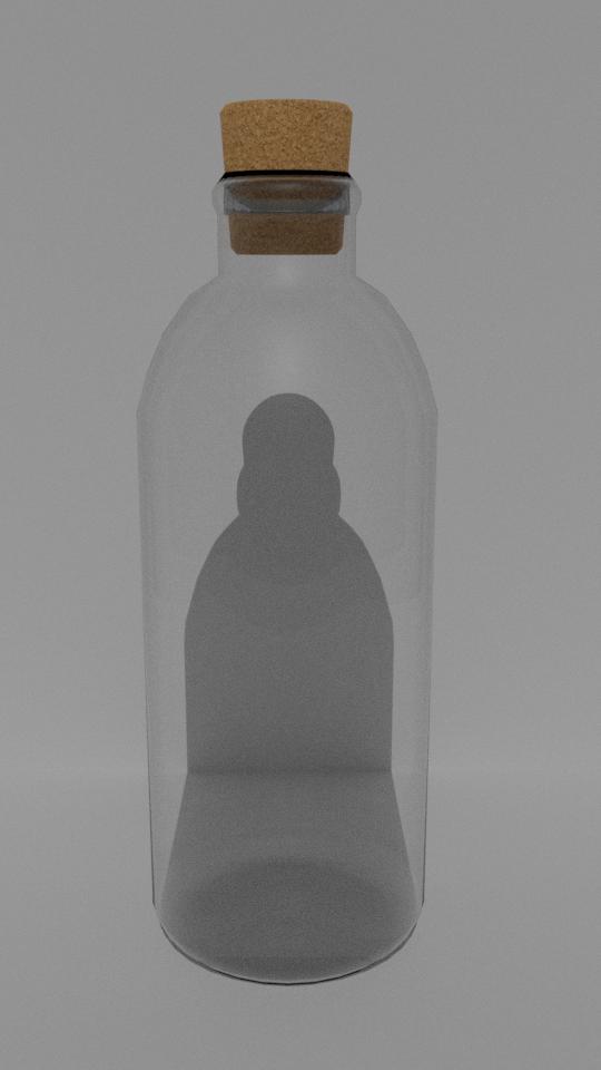 Low poly PBR bottle Free 3D Model in Medical Equipment 3DExport