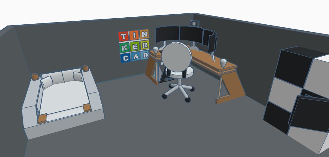 silla de escritorio tinkercad
