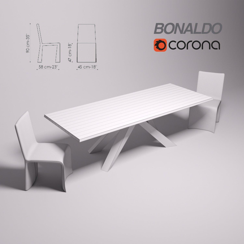 Bonaldo Big Table Bonaldo Ketch Dining Chair 3D-Modell in Küche 3DExport
