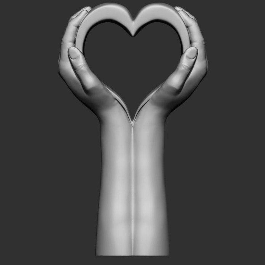 Hand hearth statue 3D Model in Sculpture 3DExport