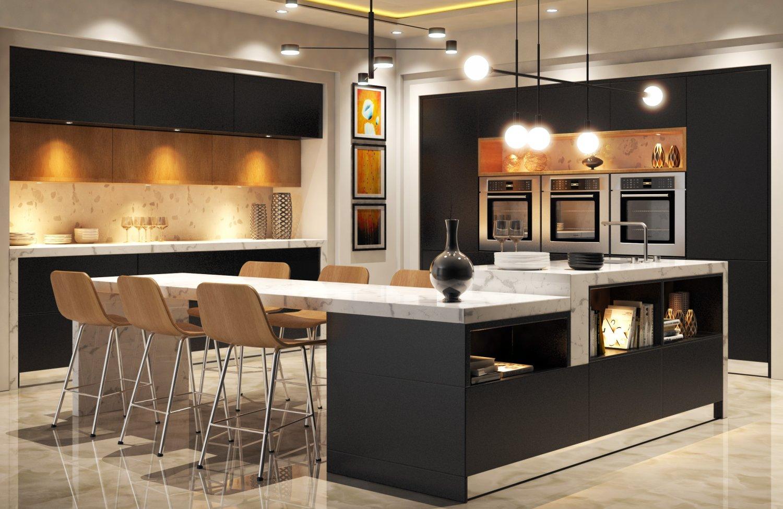 Modern Kitchen 3D Model in Kitchen 3DExport