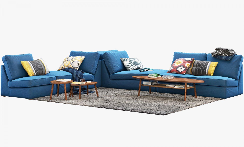 Ikea KIVIK corner modular sofa 3D Model in Sofa 3DExport
