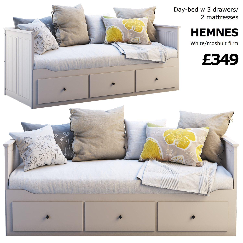 - Ikea Hemnes Bed 3 3D Model In Bedroom 3DExport