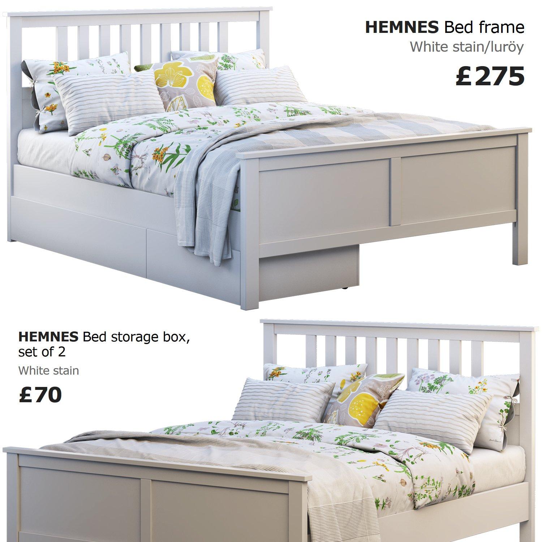 Hemnes Letto.Ikea Hemnes Bed 4 Modello 3d In Letto 3dexport