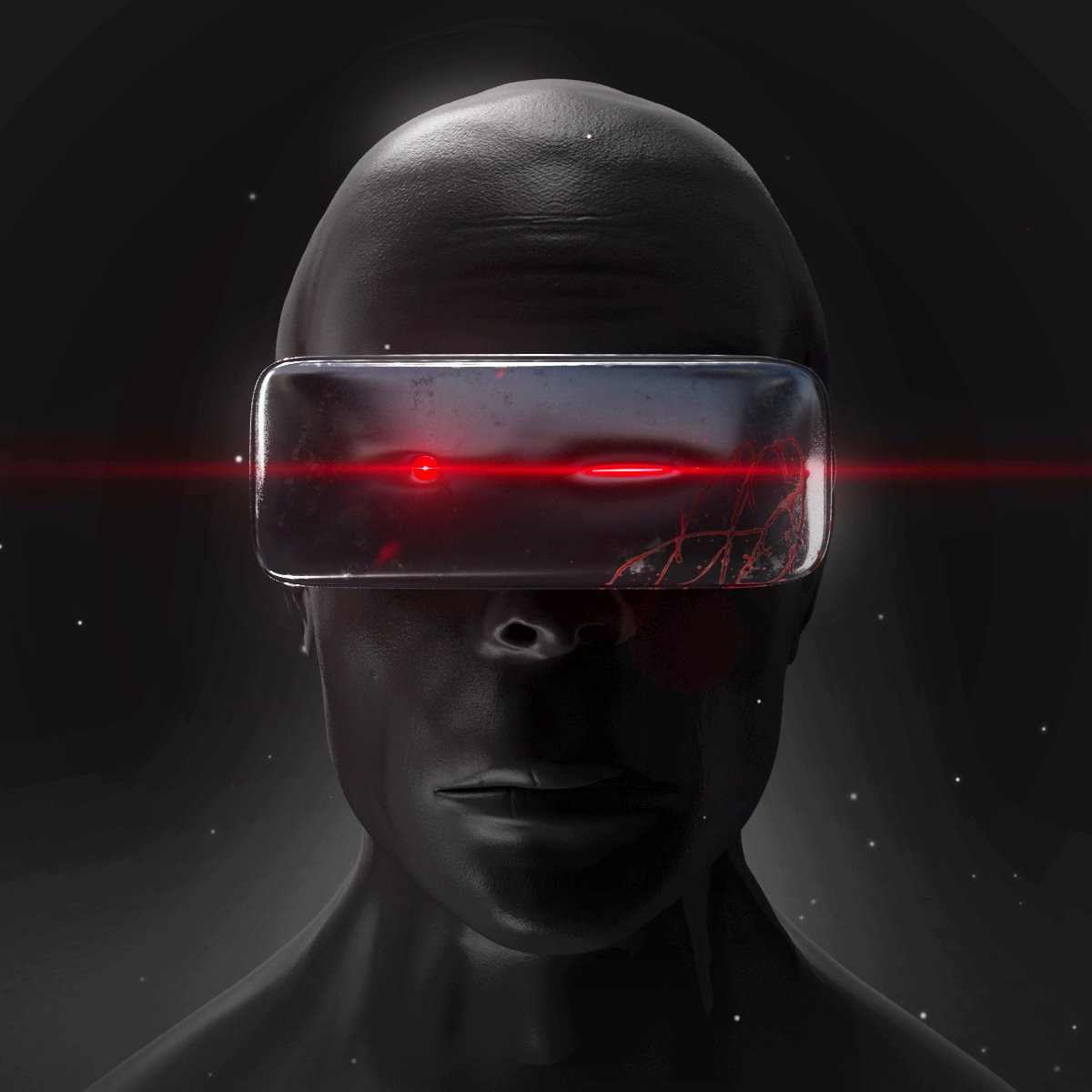 Black Face - man Gratis Modelo 3D in Anatomía 3DExport