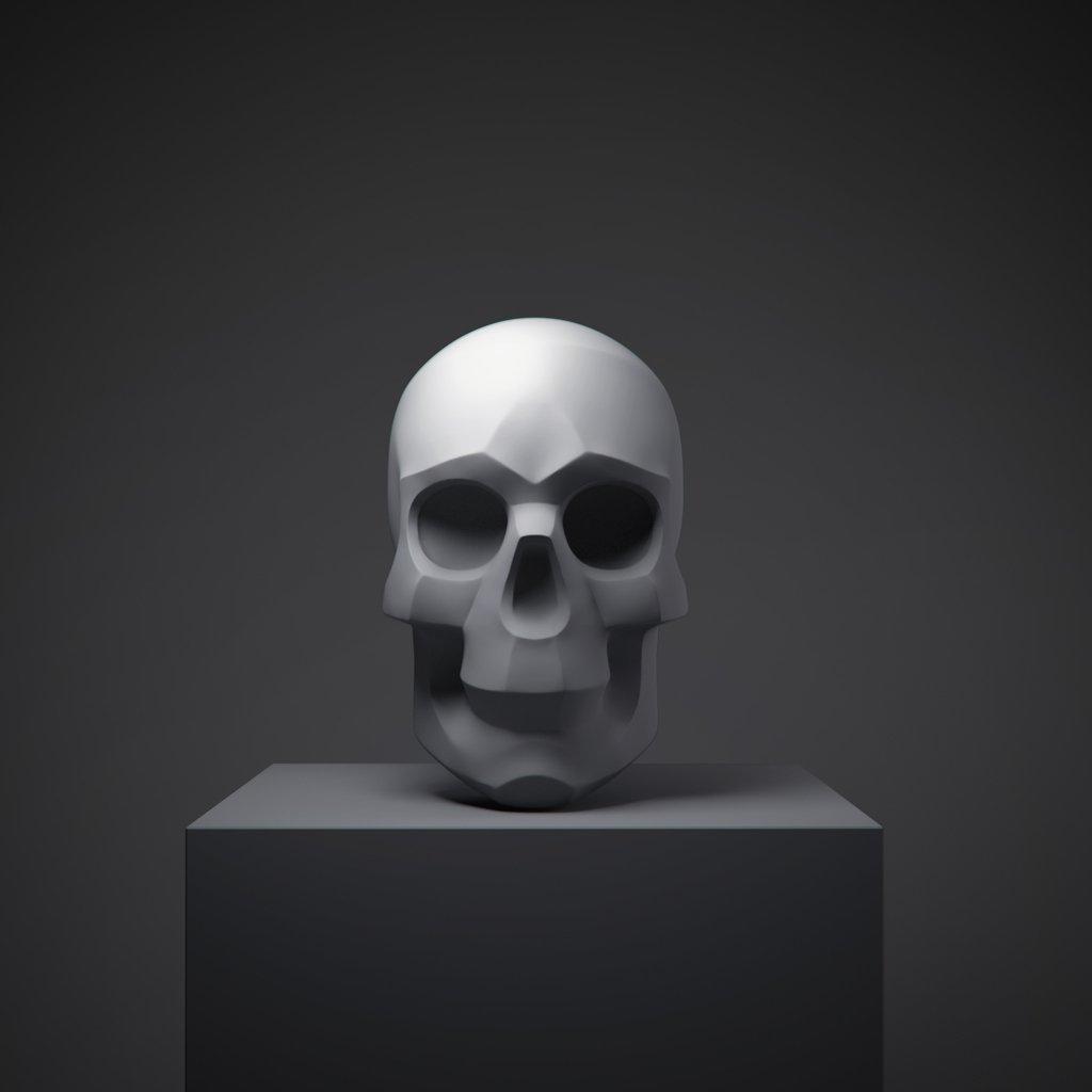 Skull Gratis Modelo 3D in Anatomía 3DExport