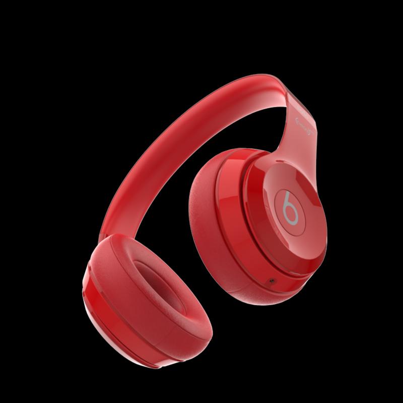 2483e7dc21b Beats Solo 2 Headphones Red 3D Model in Audio 3DExport