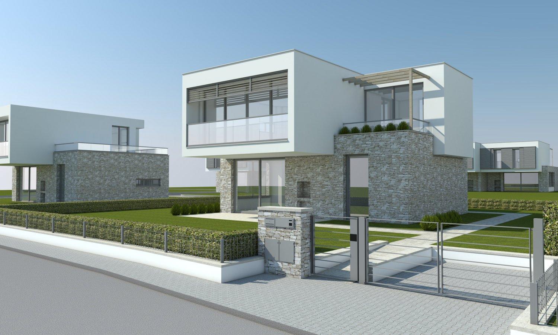 Modern villa single family 3d model