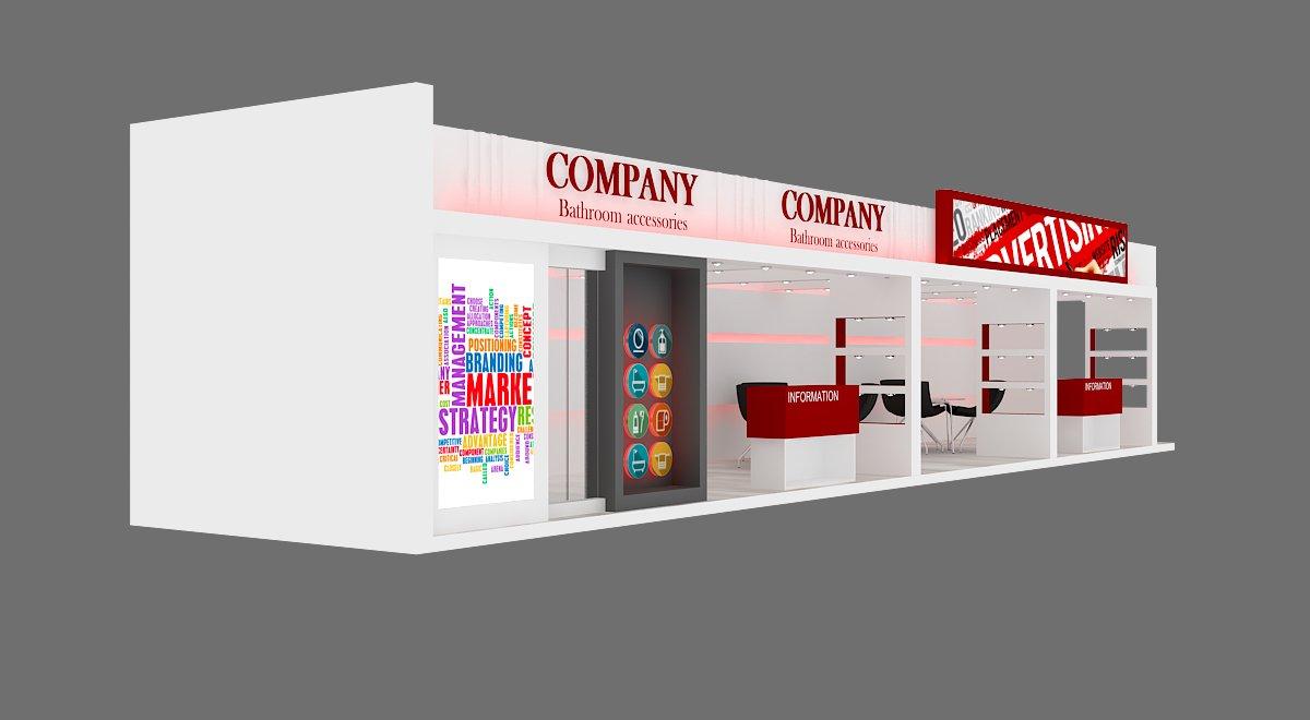 Exhibition Stand Accessories : Exhibition stand d model in exhibit dexport