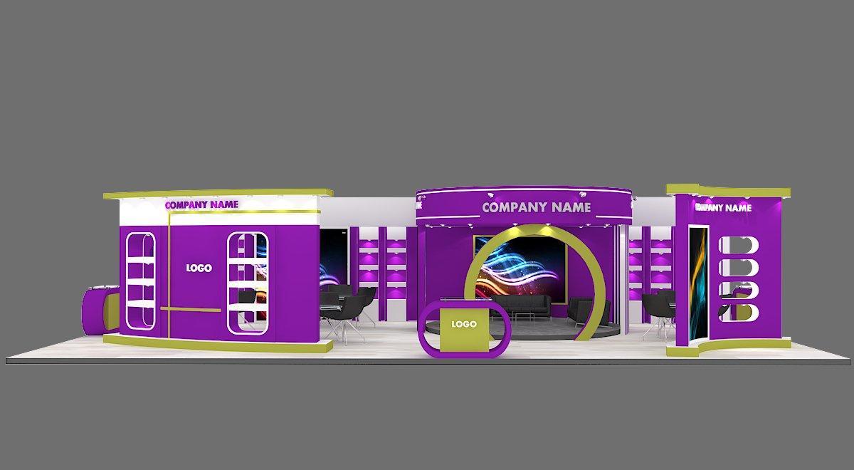 3d Exhibition Model : Exhibition stand d model in exhibit dexport