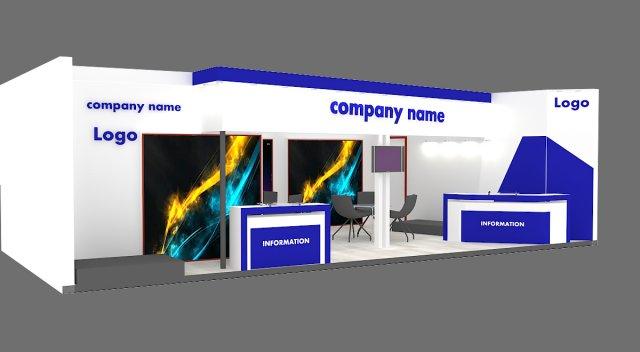 Exhibition Stand Parts : Exhibition stand d model in exhibit dexport