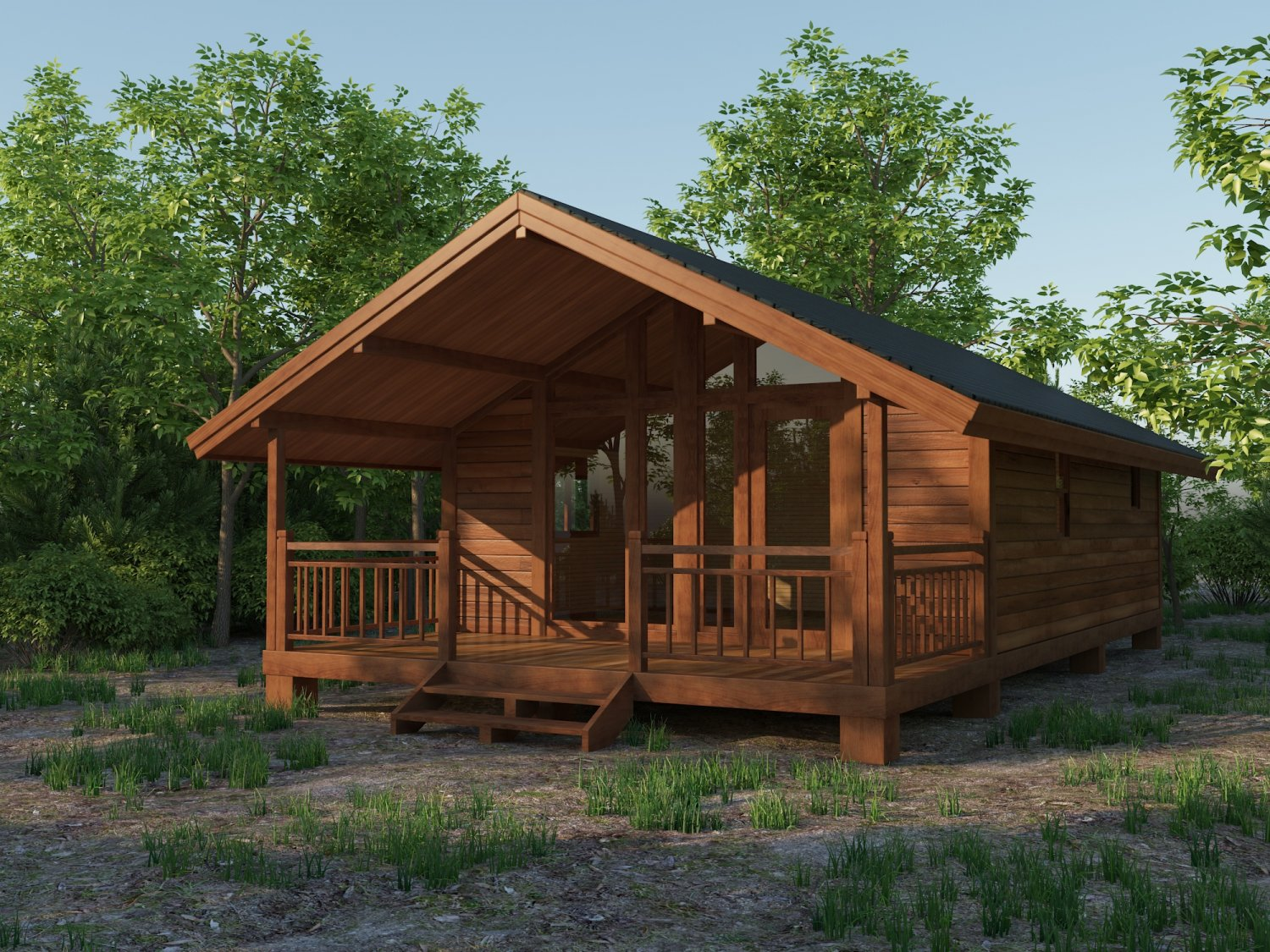 Small Wooden House For Nature Living 3d Model In Buildings 3dexport