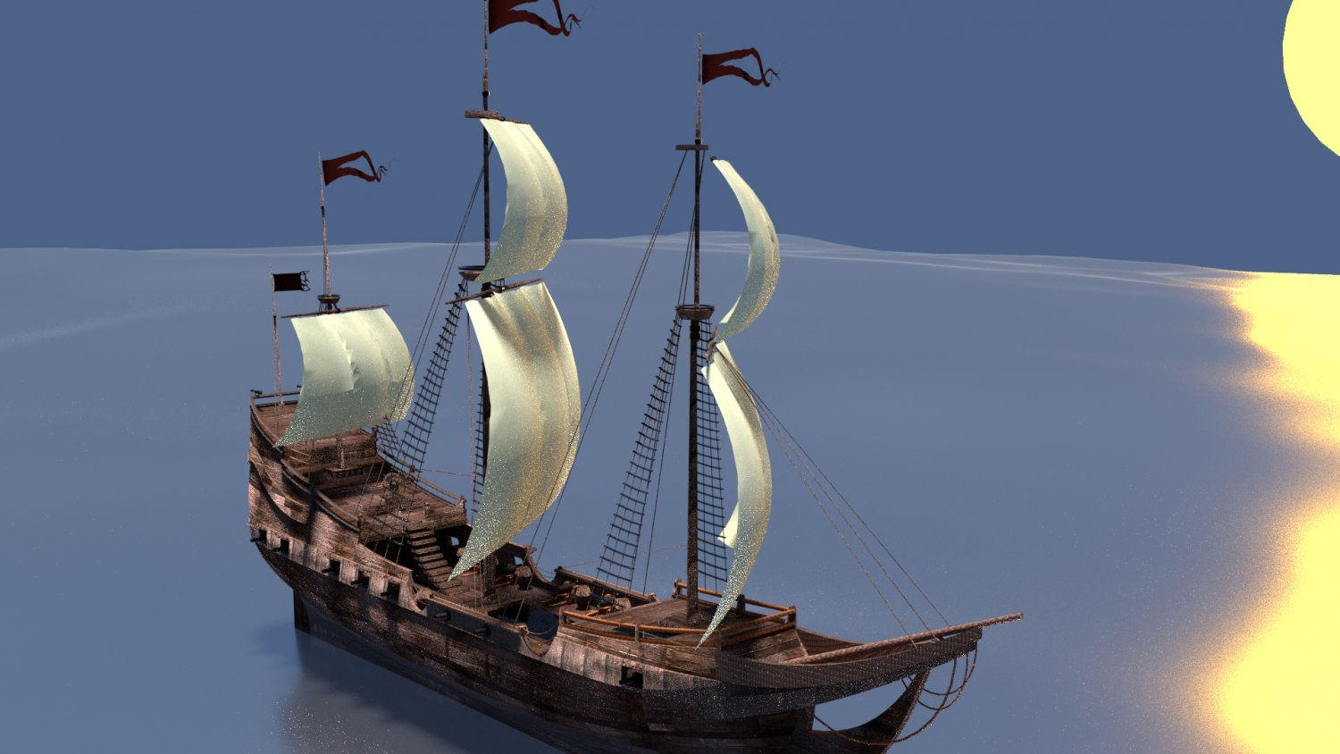 Pirate Ship 3D Model in Battleship 3DExport