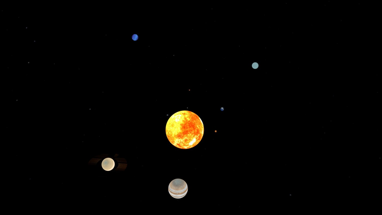 Solar System 3D Model in Planets 3DExport