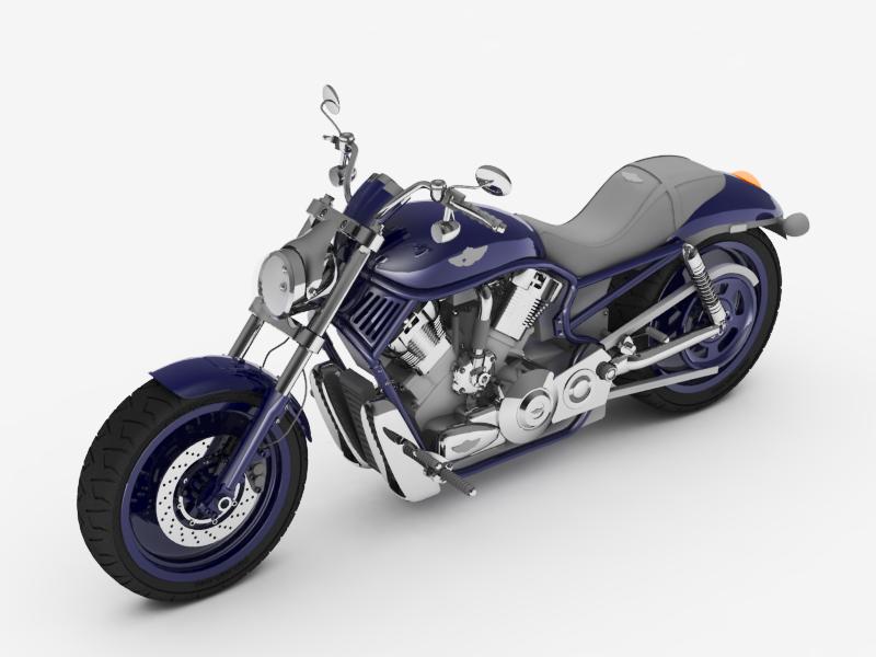 Motorbike 3D Model in Motorcycle 3DExport