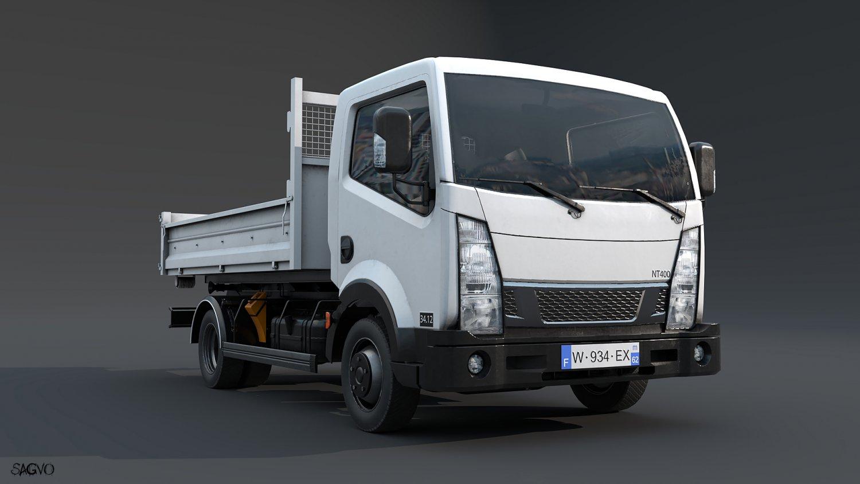 Light truck 3D Model in Machines 3DExport