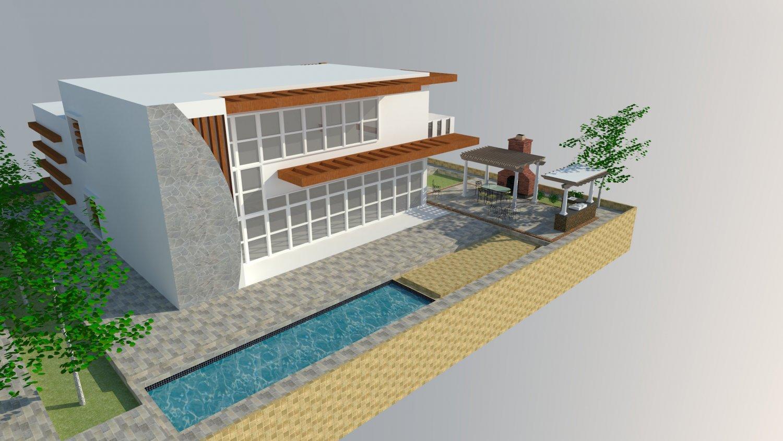 Modern Villa 3D Model in Buildings 3DExport
